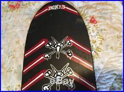1980 Powell Peralta Team Deck Near Mint Rat Bones Skateboard black red white