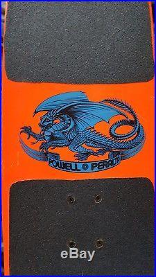 1980's Vintage Hot Pink Powell Peralta Sword and Skull Skateboard Deck