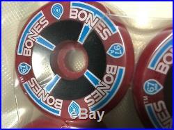 1980's Vintage NOS Powell Peralta T-Bones Skateboard Wheels Burgundy 97A 67mm