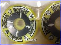 1980's Vintage NOS Powell Peralta T-Bones Skateboard Wheels YELLOW NEON 93A 67mm