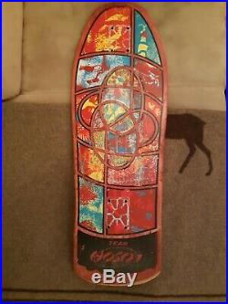 1980's Vintage Santa Cruz Team Hosoi Irie Eye Skateboard Deck