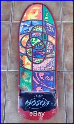 1980s Vintage Santa Cruz Team Hosoi IRIE EYE Skateboard Deck Shrink Unused