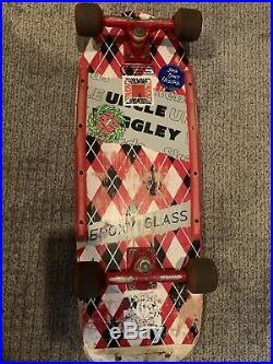 1983 Uncle Wiggley Argyle Skateboard