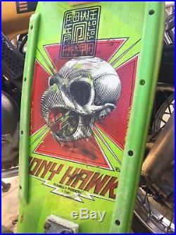 1983 Vintage Powell Peralta Tony Hawk Complete Skateboard Rare GREEN