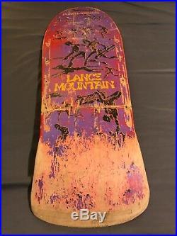 1985 POWELL PERALTA SKATEBOARD LANCE MOUNTAIN broken. Wall Hang Display