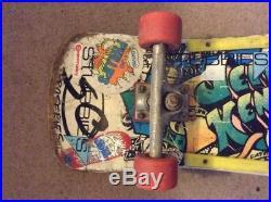 1986 Original Santa Cruz Jeff Kendall complete Graffiti skateboard
