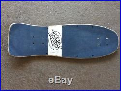 1986 Vintage Santa Cruz Jeff Kendall skateboard deck NOT REISSUE vintage SILVER