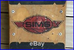 1987 Vintage Sims Jeff Phillips Pro Model Complete Skateboard Tie Dye Demon