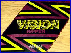 1988 Vision Ripper 2 Skateboard Team Deck Vintage NOS Condition Near Mint