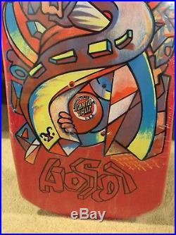 1989 Original Santa Cruz Christian Hosoi Picasso Skateboard Deck Still In Shrink