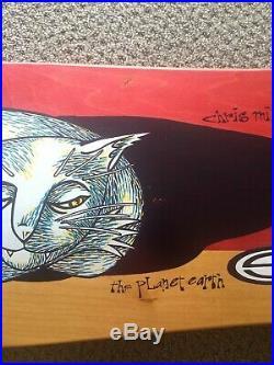 Chris Miller NOS Sleeping Cat Skateboard Deck