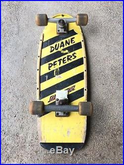 Duane Peters Santa Cruz Vintage 1980s 5 Stripe Rare YellowithBlack Complete Board