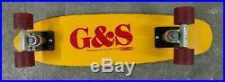 G&S FIBERGLASS VINTAGE SKATEBOARD DECK With BENNETT & POWER PAW