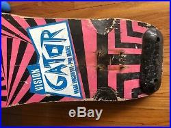 Gator skateboard deck vision
