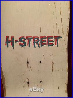 H-STREET VINTAGE SKATEBOARD 1988. ART GODOY. NEVER USED