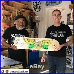 H Street Matt Hensley Skateboard Autographed By Hensley & Steve Caballero