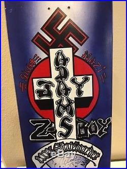JAY ADAMS DEATHBOX SKATE NAZI SIGNED SKATEBOARD zflex dogtown sma bds vision