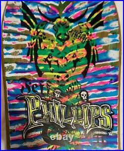Jeff Phillips Sims Vintage Skateboard Tie Dye pro model II 1987, TAKE 2