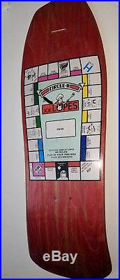 Joe Lopes Monopoly Circle A Schmitt stix Neil Blender vintage 80s skateboard NOS