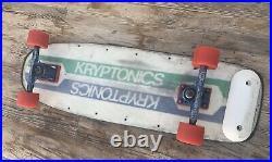 KRYPTONICS FOAMCORE SKATEBOARD, VINTAGE, With TRACKER Trucks, KRYPTONICS Wheels