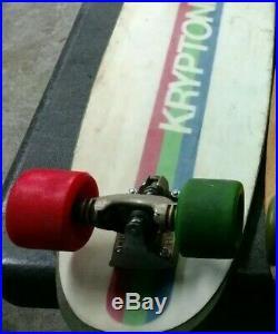 KRYPTONICS Foam Core Vintage Skateboard with Kryptonics 70mm & Gull Wing HPG IV