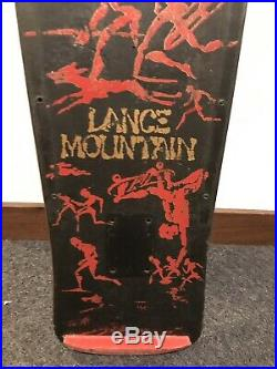 Lance Mountain 1980s Powell Peralta Original Skateboard Vintage