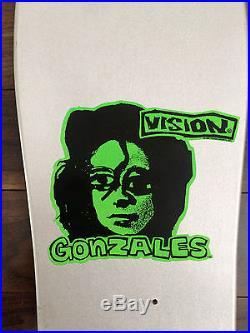MARK GONZALES VISION SKATEBOARD DECK NOS VINTAGE RARE 1988 KROOKED SUPREME