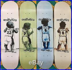 NOS Aesthetics Skateboards Decks FULL SET Barbier Singleton Welsh Taylor Deck