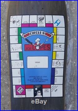 NOS Circle A Joe Lopes Monopoly Vintage Skateboard Deck 1989 schmitt stix