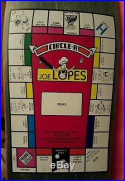 NOS Joe Lopes Monopoly Skateboard Deck by Circle A 1989 Schmitt Stix Vision BBQ