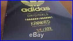 NOS Krooked ADIDAS Skateboard Deck 74/222 Mark Gonzalez Skateboarding RARE