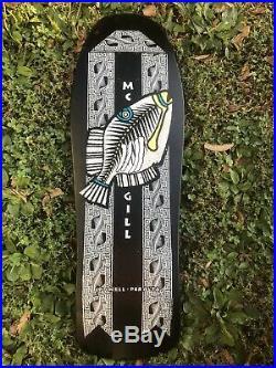 NOS Vintage Powell Peralta Mike McGill Triggerfish Skateboard Deck Original 80s