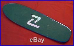 NOS Z-Flex Jimmy Plumer Old School Fiberglass Skateboard Deck Undrilled Blue