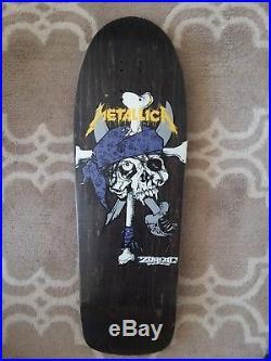 NOS Zorlac Metallica Pirate Vintage 1990 skateboard deck pushead