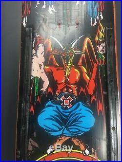 Natas Kaupas 1991 Original Devil Worship Skateboard Rare Grail