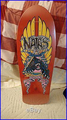 Natas Santa Cruz red skateboard deck reissue mint in shrink