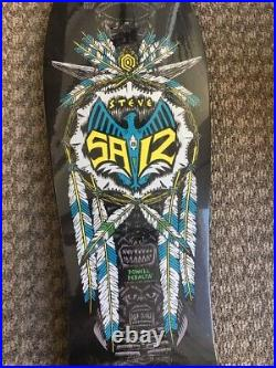 Nos 1989 Powell Peralta Skate Steve Saiz Feathers Totem30.5 X 10 Red Wings Rare