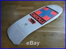 Nos Santa Cruz Lucero Blue Cross Skateboard Deck In White