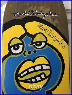 OG Mark Gonzales Vision Fat Face Lady Krooked Blind Rare Signed Skateboard Art