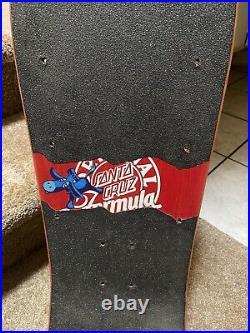 OG Vintage 1988 Santa Cruz Jeff Grosso skateboard Coca Cola Rare