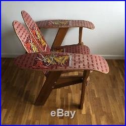 OG Vintage Powell Peralta Steve Caballero D&B Skateboard Deck Chair