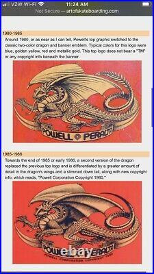 ORIGINAL Vintage 1984 Powell Peralta Vato Rat Bones Skateboard 1980s