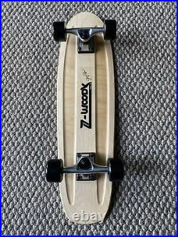 Old School 70s Skateboard 29X 8 NOS Wood Deck & Z Woody Decal Z Flex Wheels