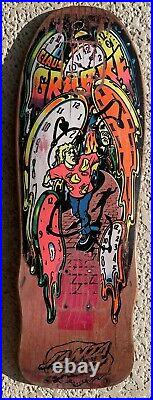 Old School Vintage Santa Cruz Claus Grabke Melting Clock Skateboard Rare Hosoi