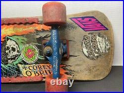 Original 1980s Santa Cruz Corey OBrien Reaper Skateboard Deck VENTURE, VISION