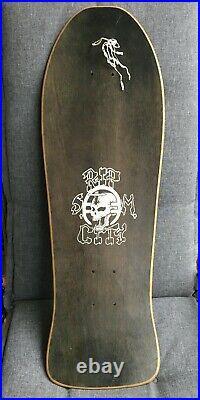 Original 1986 Vintage RIP CITY Skateboard Black Flag Raymond Pettibon ART