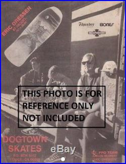 Original 1987 Mini Street Model Dogtown Eric Dressen Skateboard Dog Town Vintage