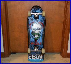 Original 1987 Powell Peralta Mike McGill Skateboard Deck, + NOS Bullet Wheels +