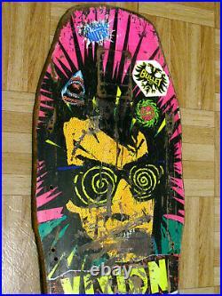 Original 1987 Vision Skateboard Deck Psycho Stick Totally Nuts Powell Santa Cruz