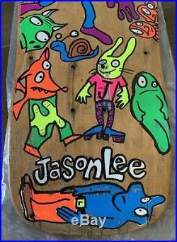 Original 1990 BLIND JASON LEE Vintage Skateboard RARE Silly Animals Pro Model